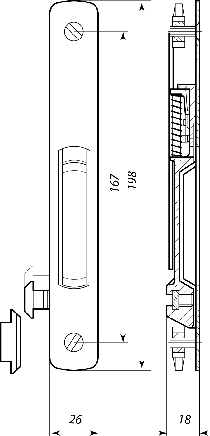 Фурнитура для раздвижных балконных створок.